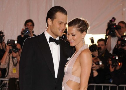 Tom Brady och Gisele Bündchen på the 2008 Costume Institute Gala.