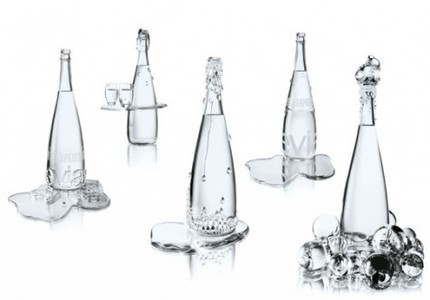 Jean-Paul Gaultier's Haute Couture Evian collection by Baccarat.