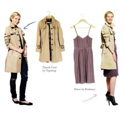 Look 1: En klassisk trenchcoat.