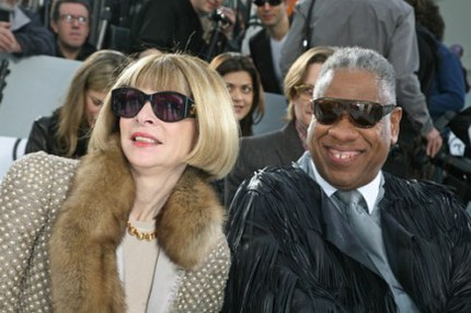 Anna Wintour och André Leon Talley front row på Chanel, A/W 07/08.