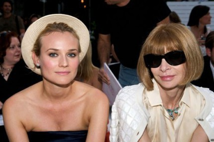 Diane Kruger och Anna Wintour front row på Chanel, Cruise 08/09.