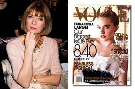 Anna Wintour och Vogue september 2007.