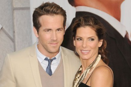 "Ryan Reynolds och Sandra Bullock på premiären av ""The Proposal""."