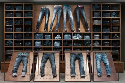Benetton-denim-wall