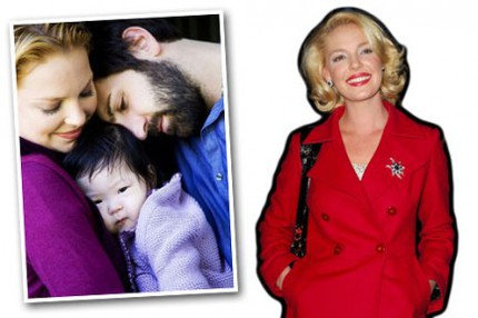 Katherine Heigl med maken Josh Kelley och dottern Naleigh.
