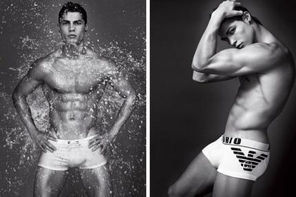 Cristiano Ronaldo för Emporio Armani Underwear, S/S 2010.