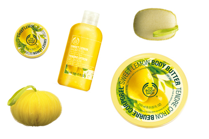 The Body Shops nya kroppsserie Sweet Lemon.