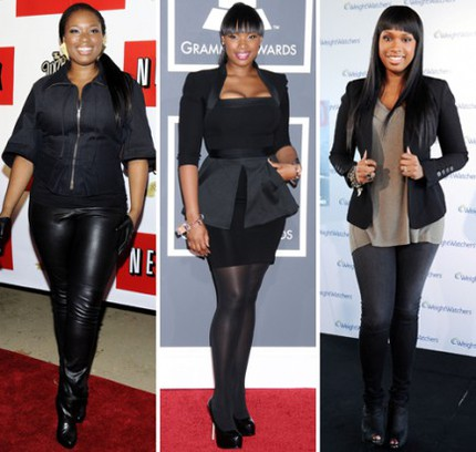 Jennifer Hudson i september 2009, januari 2010 och april 2010.