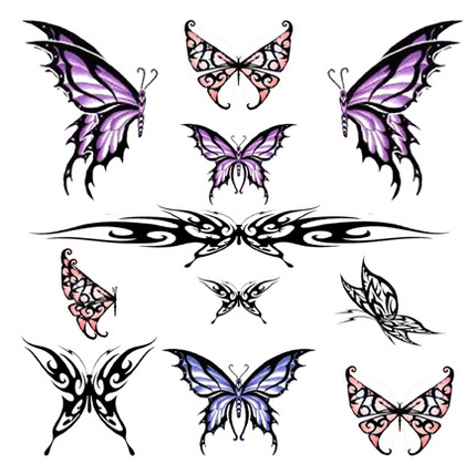 Tribal Butterfly Tattoo.