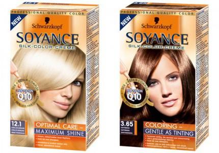 Schwarzkopf Soyance i färgerna Extra Ljus Askblond och Kaffebrun.