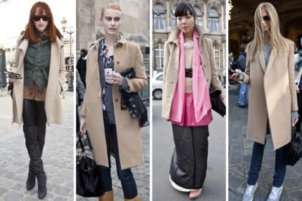 Paris Streetstyle AW/10, kamelfärgade kappor