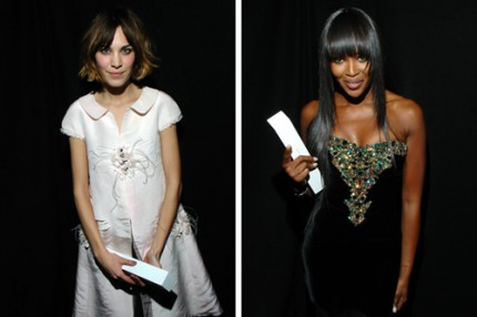 Alexa Chung och Naomi Campbell fick pris på British Fashion Awards.