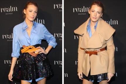 Blake Lively på öppningen av Realm Boutique in New York 4/11 2010.