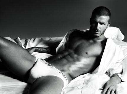 David Beckham i annons för Emporio Armani Underwear 2008.