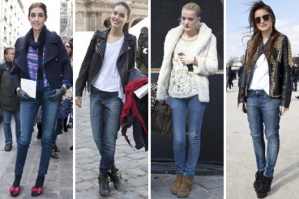 Jeans under Paris Fashion Week, A/W 2010.