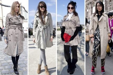 Paris Streetstyle AW/10, trenchcoat