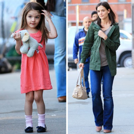 Lilla Suri är ofta mer uppklädd än mamma Katie Holmes.