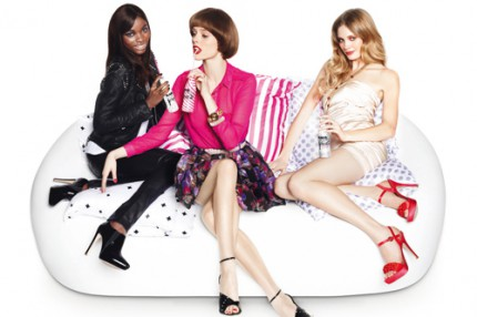 Jeneil Williams, Coco Rocha och Heidi Mount för Coca-Cola light.