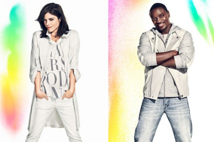 Selma Blair och Akon stöttar H&M:s kampanj Fashion Against AIDS.