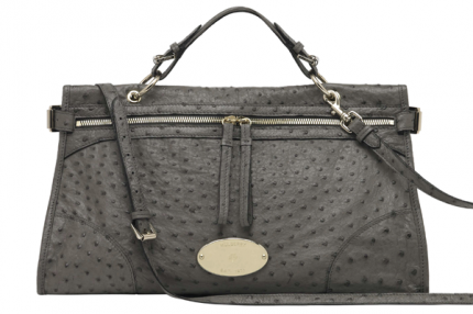 Mulberry Taylor Satchel i Mole Grey Ostrich.