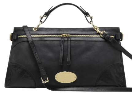 Mulberry Taylor Satchel i Black Smooth Leather.