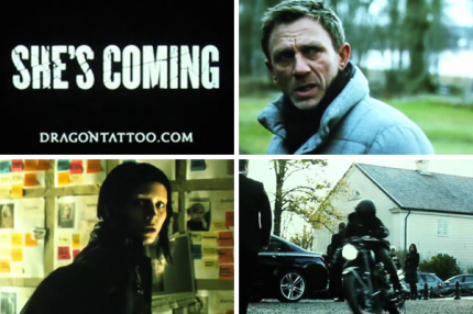 "Bilder från trailern till ""The Girl With The Dragon Tattoo""."