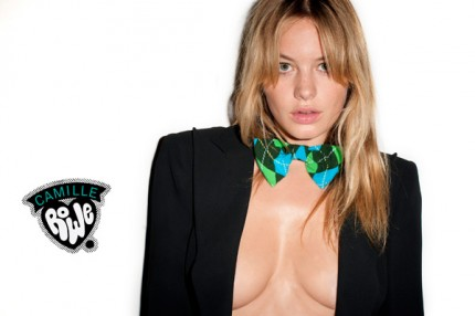 Camille Rowe plåtad av Terry Richardson för Happy Socks.