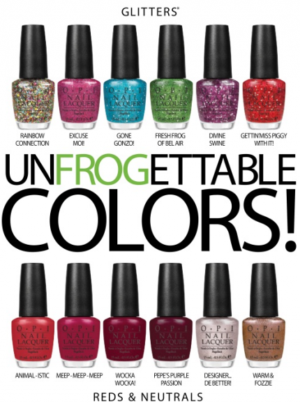 Unfrogettable colors från OPI och The Muppets.