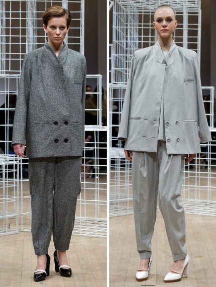 Rymliga kostymbyxor hos Carin Wester, A/W 2012.