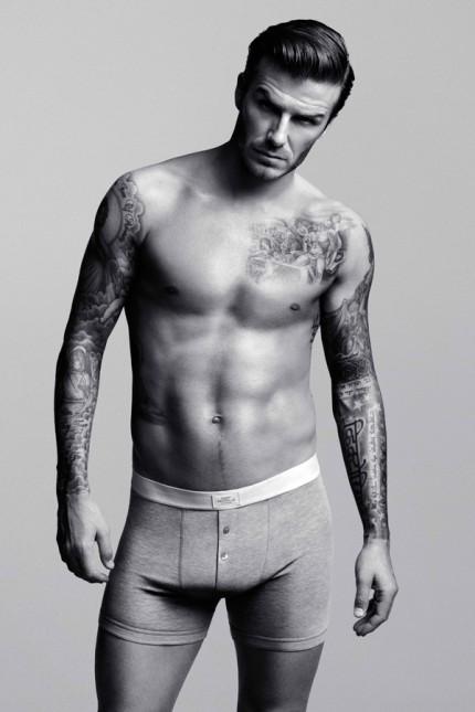 David Beckham lanserar bodywear på H&M i februari 2012.