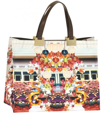 Mary Katrantzou for Longchamp, spring 2012.