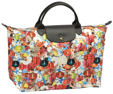 Mary Katrantzou Le Pliage for Longchamp, spring 2012.