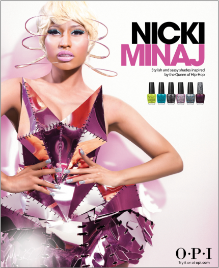 Nicki Minaj OPI Nail Lacquer Collection 2012.