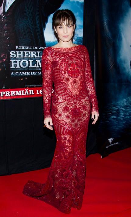 """Noomi Rapace på premiären av """"Sherlock Holmes"""" i Stockholm förra året."""