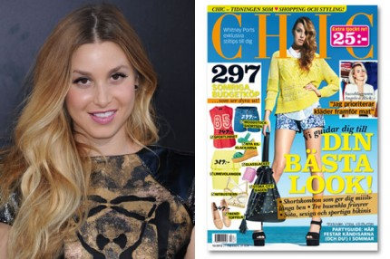 Whitney Port pryder omslaget av Baaam nr 12-2012.