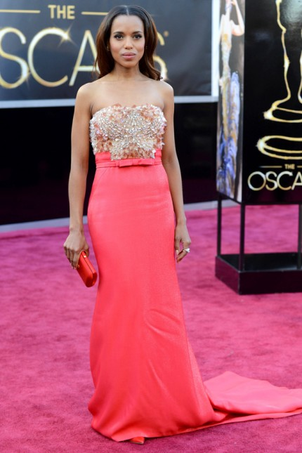 Kerry Washington i Miu Miu på Oscarsgalan 2013.