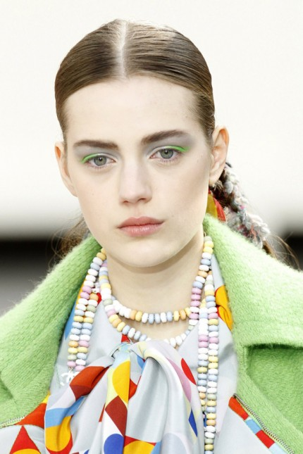Candy necklace at Chanel, A/W 2014.