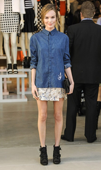 Kate Bosworth i jeansskjorta.
