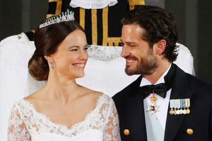 Prinsessan Sofia Hellqvist och prins Carl Philip.