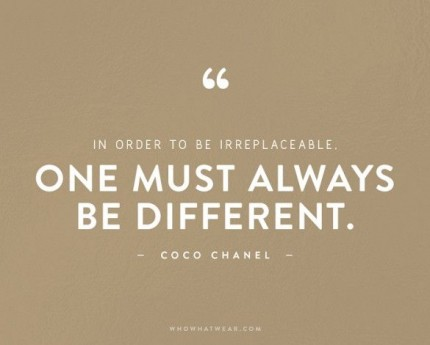 coco chanel citat irreplaceable