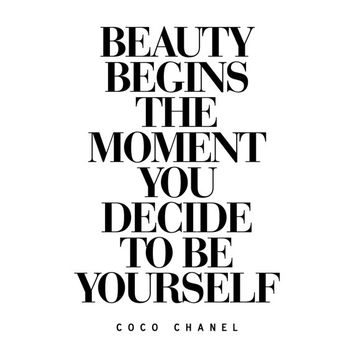 coco chanel citat  beauty