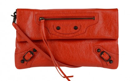 balenciaga clutch orange