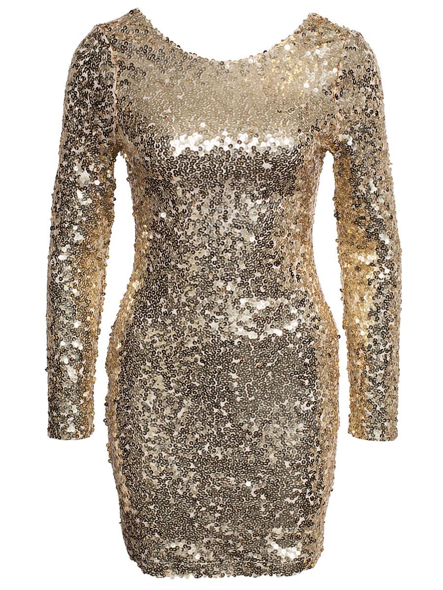 973ac42d8a9c paljettklänning guld   Baaam