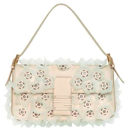 Fendi-Flower-Leather-Baguette-Bag