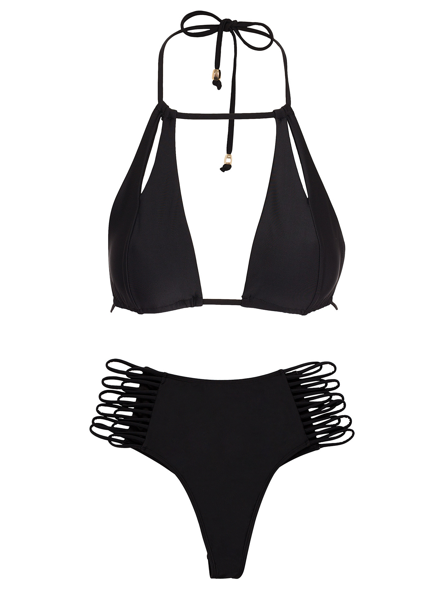 höga svarta bikinitrosor