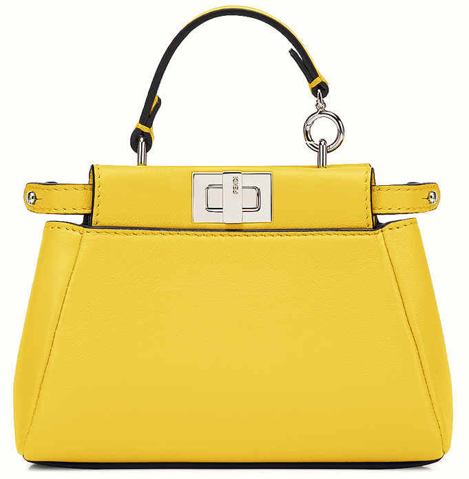 fendi peekabo micro yellow