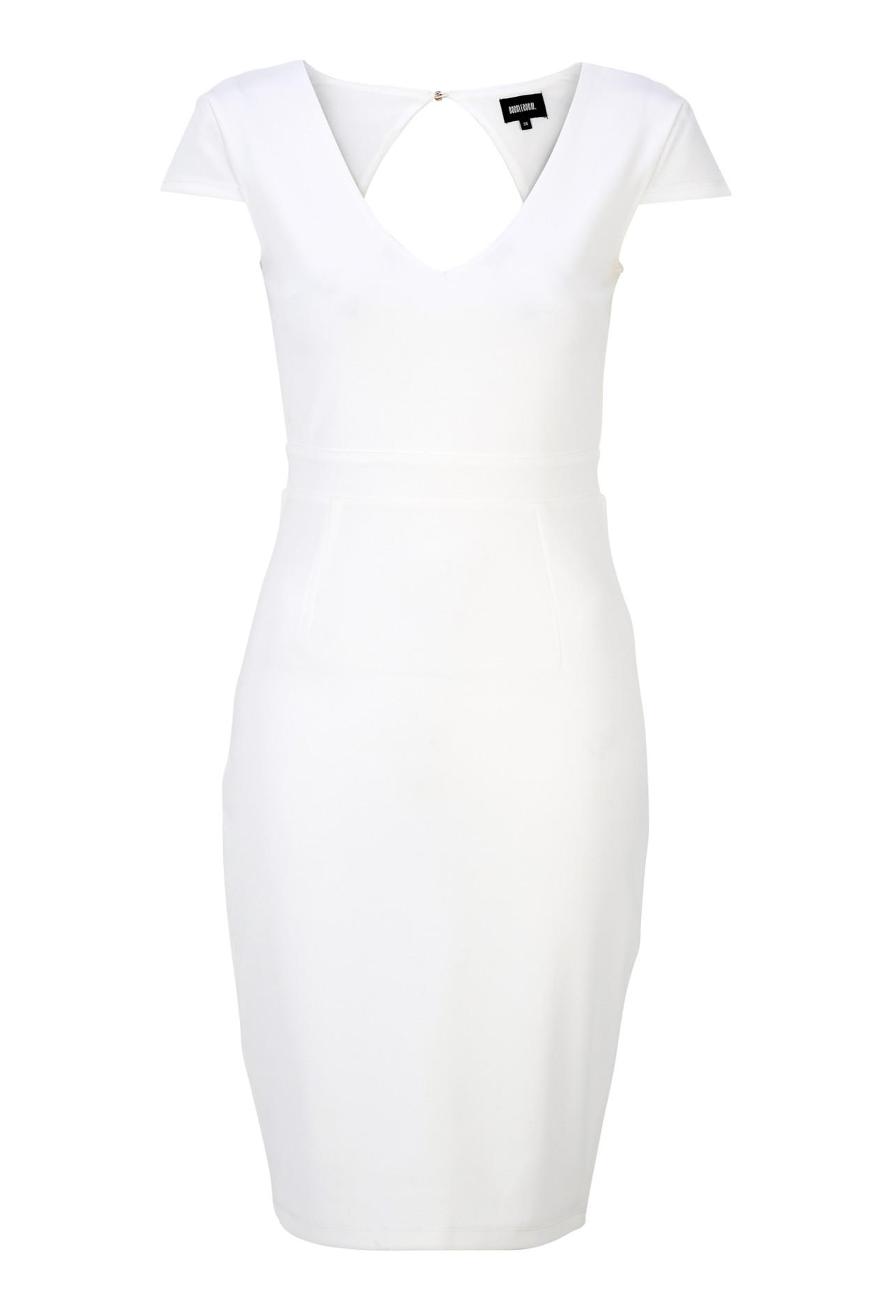 Vit tight spetsklänning 9572aea01663d
