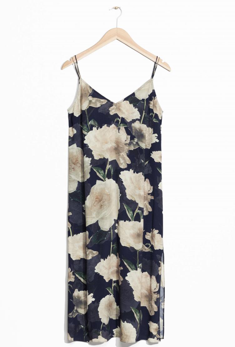 blommig slipklänning