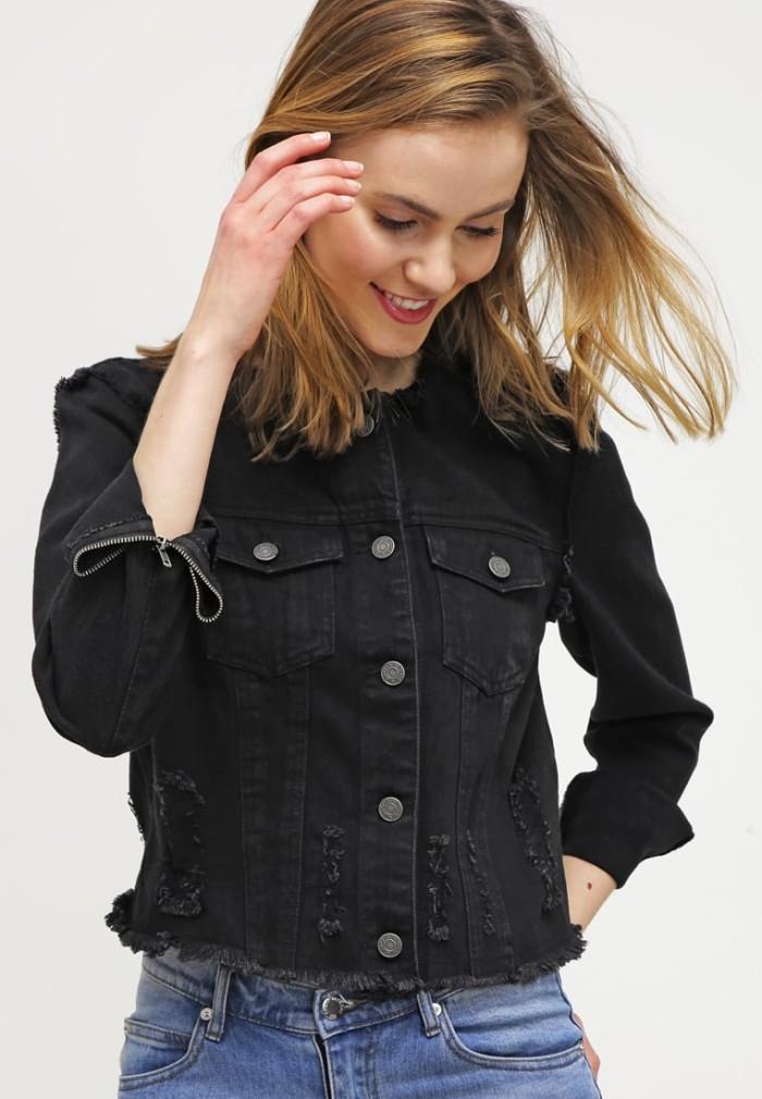 Svart jeansjacka vero moda