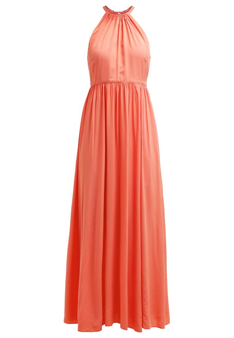 korallfärgad klänning bröllop